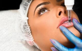 No Needle Dermal Filler - Hyaluronic Air Pen on Lips